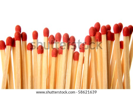 Matchsticks - stock photo
