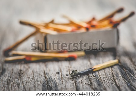 matchsticks , close up