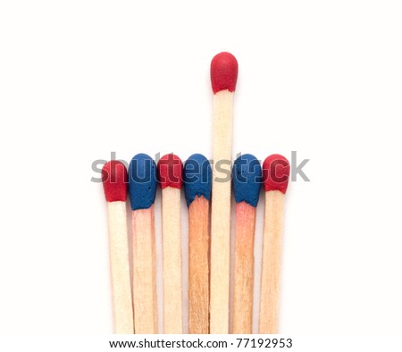 Matchsticks. isolated on white background - stock photo