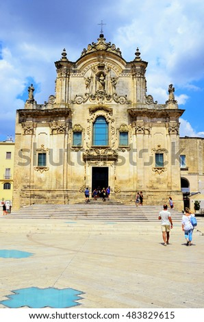 MATERA, ITALY August 20 - Church of St. Francis of Assisi August 20, 2016 Matera Italy