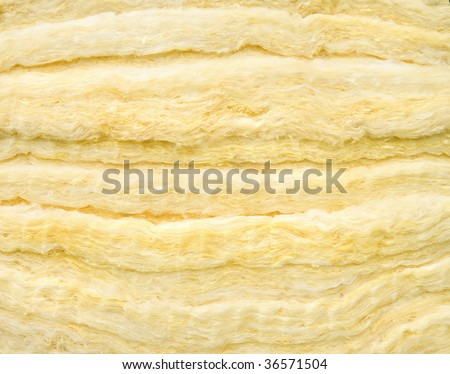 Material of glass wool insulation sheet Close-up - stock photo