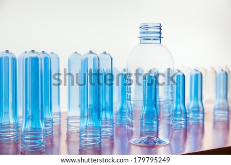 material of PET Polyethylene terephthalate before made to Bottle water. - stock photo