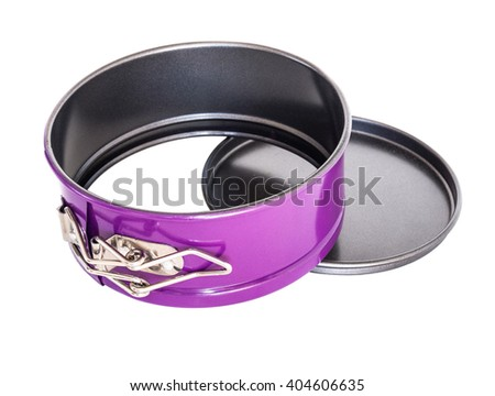 material spherical baking loaf pan non-stick coating. isolated on white. - stock photo