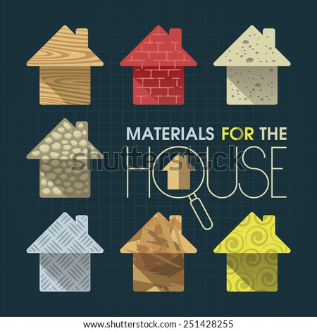 Materials to build a house in the form of small houses - stock photo