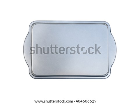 materimaterial baking tray for baking bread and savory meatloaf. non-stick coating. isolated on white.al rectangle baking loaf pan non-stick coating. isolated on white. - stock photo
