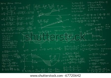 Math background - stock photo