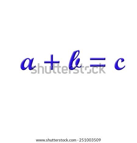 Math Formula - stock photo