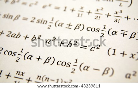 Math geometry background with formulas, math, number equation - stock photo