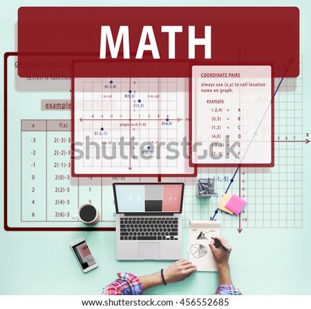 Math Mathematics Calculation Chart Concept - stock photo