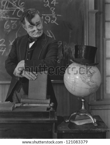 Math teacher - stock photo