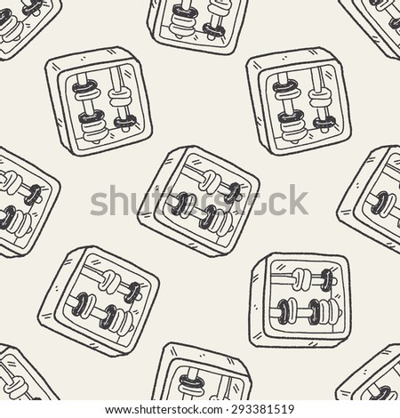 math toy doodle seamless pattern background