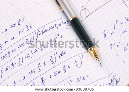 Mathematical calculation - stock photo