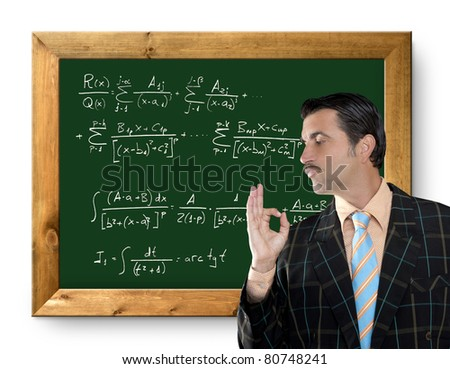 mathematical formula genius tacky geek easy resolve positive gesture [Photo Illustration]