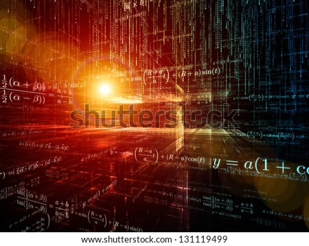 Mathematical Formula series. Background design of mathematical formulas and design elements in perspective on the subject of business, science, education and technology