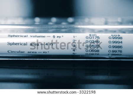 Mathematical Measuring Tool - stock photo
