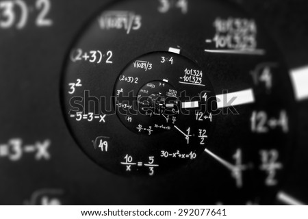 Mathematical watch droste effect. - stock photo