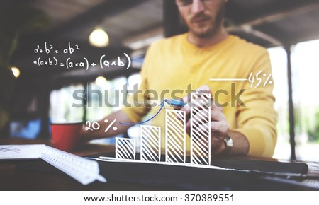 Mathematics Computation Growth Success Increase Planning Concept - stock photo