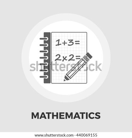 Mathematics icon - stock photo