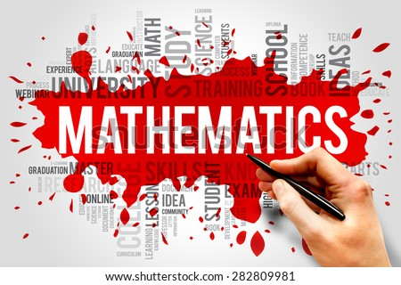 Mathematics word cloud, education concept - stock photo