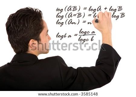 Maths Teacher Writing Mathematical Formula On Stock Photo 3585148 ...