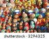 Matreshkas background - stock photo
