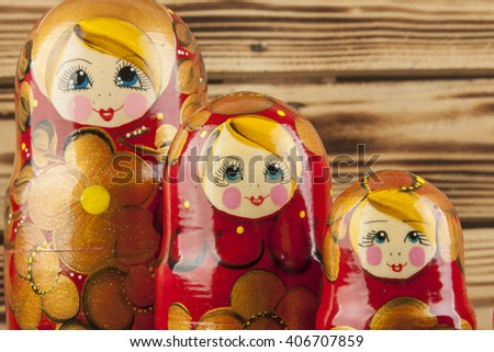 Matrioshka or  babushkas dolls - stock photo