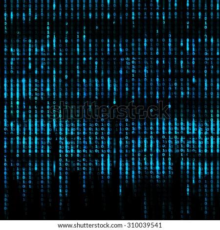 Matrix Abstract - binary code screen background - stock photo