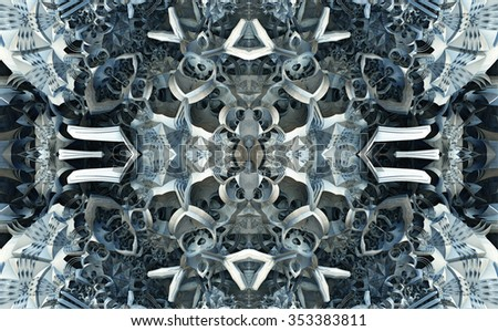matrix abstract composition - stock photo