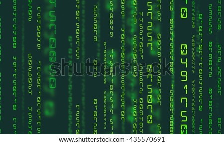 Matrix background with the green numbers