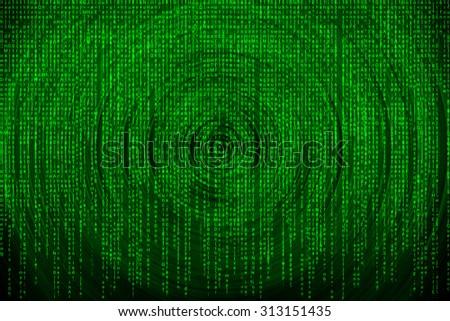 Matrix background with the green symbols - stock photo