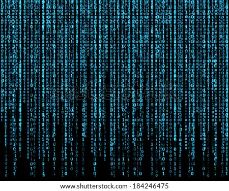 Matrix, blue. - stock photo