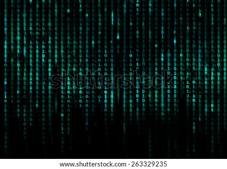 Matrix code conceptual background - stock photo