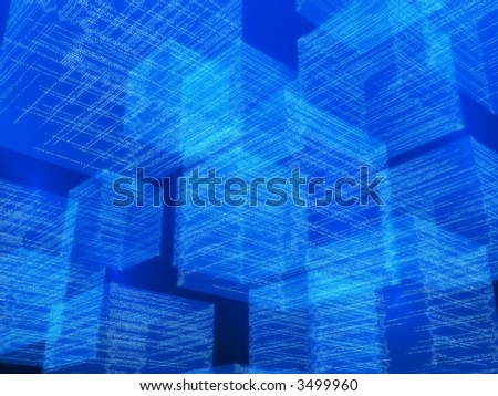 matrix cubes - stock photo