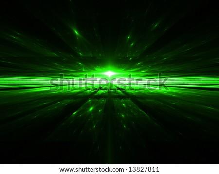 Matrix Horizon - Fractal Illustration - stock photo