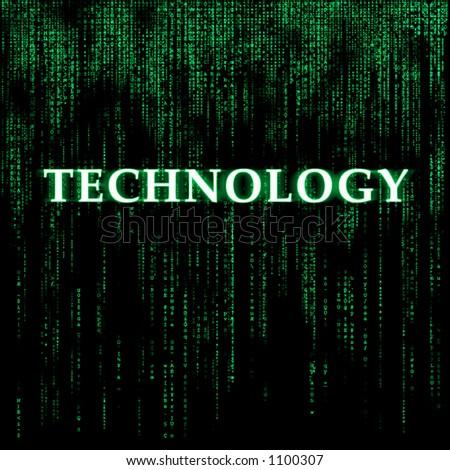 Matrix-like background - Technology - stock photo