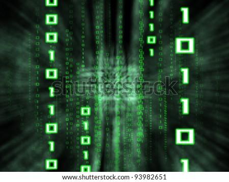 matrix style binary background - stock photo