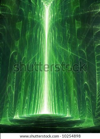 Matrix / The Street - fractal illustration - stock photo
