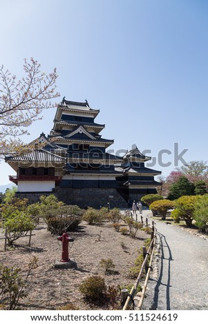 matsumoto castle and inside park