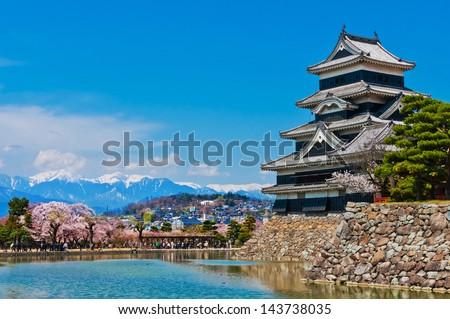 Matsumoto castle in Matsumoto, Japan - stock photo