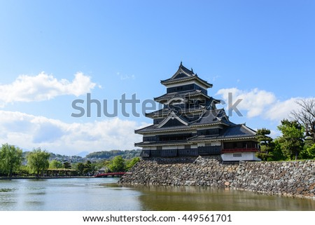 Matsumoto Castle with clear sky in Summer, Japan