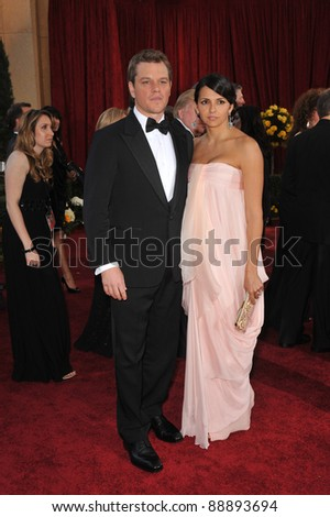 Matt Damon & Luciana Barroso at the 82nd Annual Academy Awards at the Kodak Theatre, Hollywood. March 7, 2010  Los Angeles, CA Picture: Paul Smith / Featureflash