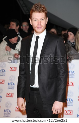 Matt Milne  arriving for the National Television Awards 2013, at the O2 Arena, London. 23/01/2013 Picture by: Alexandra Glen