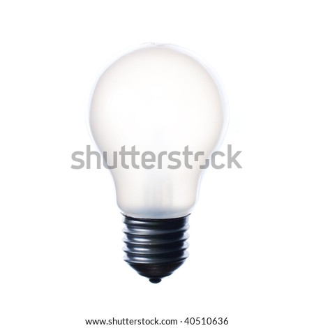 Matt white light bulb for home lamp. Isolated on white