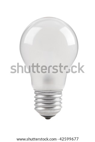 Matte incandescent electric lamp isolated on white