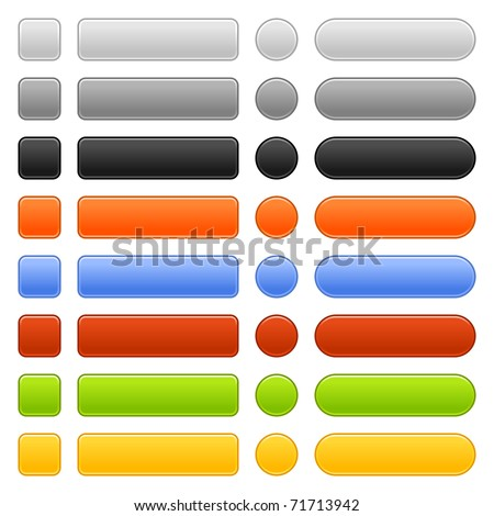 Matted colored blank web buttons on white background. Bitmap copy my vector ID: 52318096