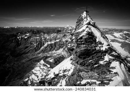 Matterhorn (Monte Cervino), Italian summit. - stock photo