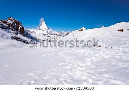 Matterhorn Peak, alps in Switzerland - stock photo