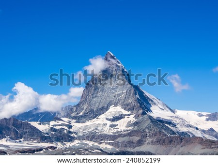 Matterhorn peak, Switzerland - stock photo