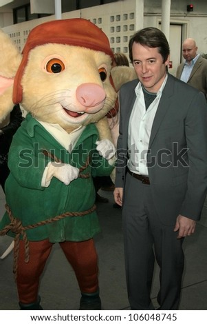 Matthew Broderick   at the World Premiere of 'The Tale of Despereaux'. Arclight Hollywood, Hollywood, CA. 12-07-08