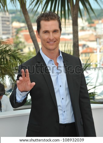 "Matthew McConaughey at the photocall for his new movie ""The Paperboy"" in competition at the 65th Festival de Cannes. May 24, 2012  Cannes, France Picture: Paul Smith / Featureflash"